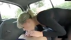 The girl fucking in The car
